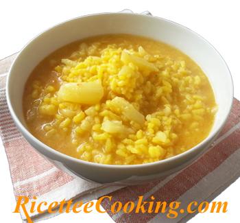 Riso brodoso con cavolfiore e baccalà alla Valenciana (Arroz meloso de coliflor y bacalao)