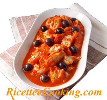Baccalà in salsa al peperone