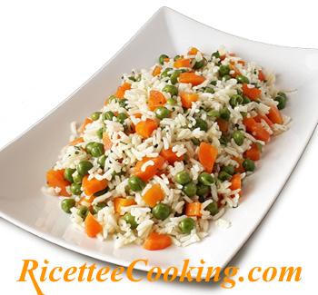 Riso basmati con piselli e carote