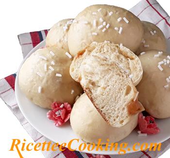Brioche farcite con metodo Tang Zhong senza uova