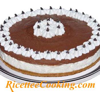 Cheesecake ricotta cioccolato e panna