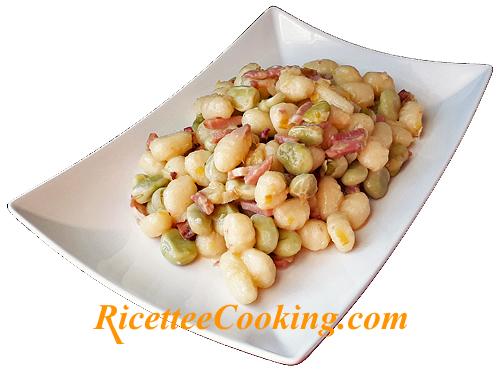 Gnocchi di patate fave e pecorino