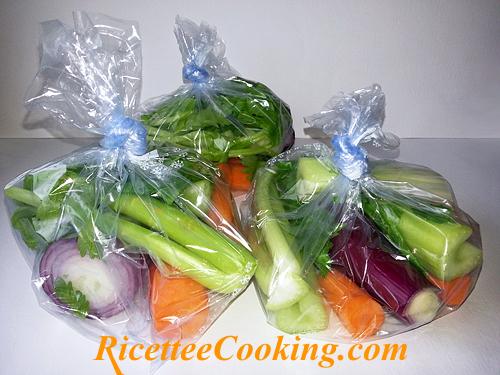 Odori per il brodo vegetale