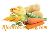 Patate, zucchine, carote e piselli