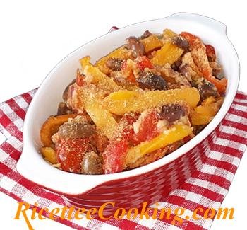 Peperoni al forno con pangrattato (ammollicati)