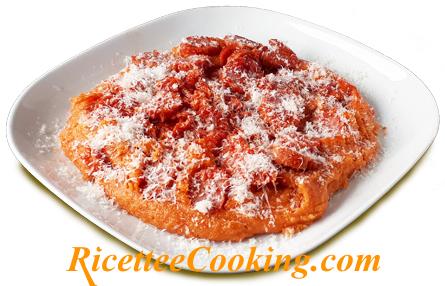 Polenta con salsicce di Siena