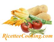 Patate, zucchine, pomodori e fagiolini