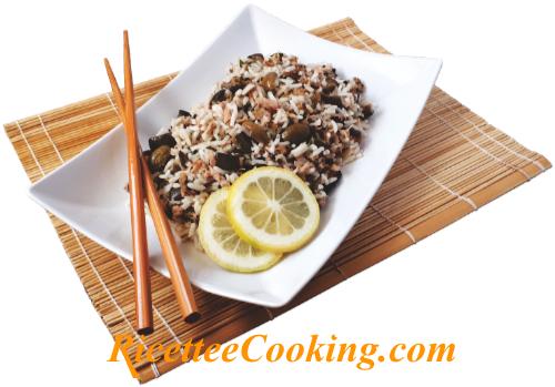 Insalata di riso con tonno e melanzane grigliate