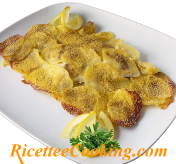 Filetto di rombo in crosta di patate