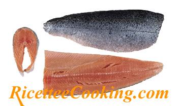 Filetto e trancio di salmone