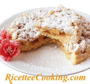 Torta sbriciolata alle mele senza burro