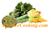 Spinaci, zucchine e carciofi
