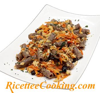 Tortiglioni carote e tonno