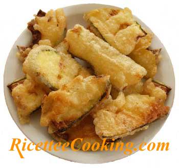 Zucchine e melanzane fritte dorate